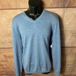Joseph Abboud Mens Sweater Blue Long Sleeves XL
